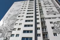 <h5>Tours de Gilamont Vevey : Façades ventilées en fibro ciment grand format avec sous construction métal</h5>